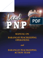 Barangay Peacekeeping Action Team and Barangay Peacekeeping Operations Manual