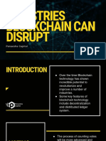 Industries that Blockchain can disrupt