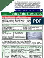 28.Joint Pain 1 Arthritis Clinical Card 2014.2016 Disclaimer