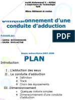 Conduite d'Adduction