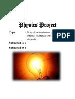 Physics Projec