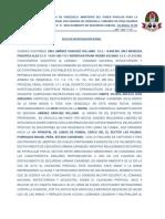 Acta Policial Homicidio 2 de Enero 2019 Lomas de Funval