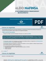 Criterios de Elegibilidad Para Incorporacion a NAFIN