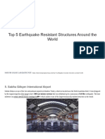 Top 5 Earthquake Resistant Structures Around the World