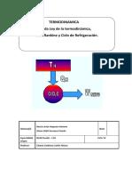 2da Ley de La Termodinámica, Ciclo Rankine y Ciclo de Refrigeraión.