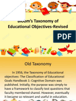 Bloom's Taxonomy of Educational Objectives-Revised