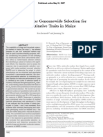 Prospects for Genomewide Selection For