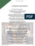 Principles behind the Agile Manifesto