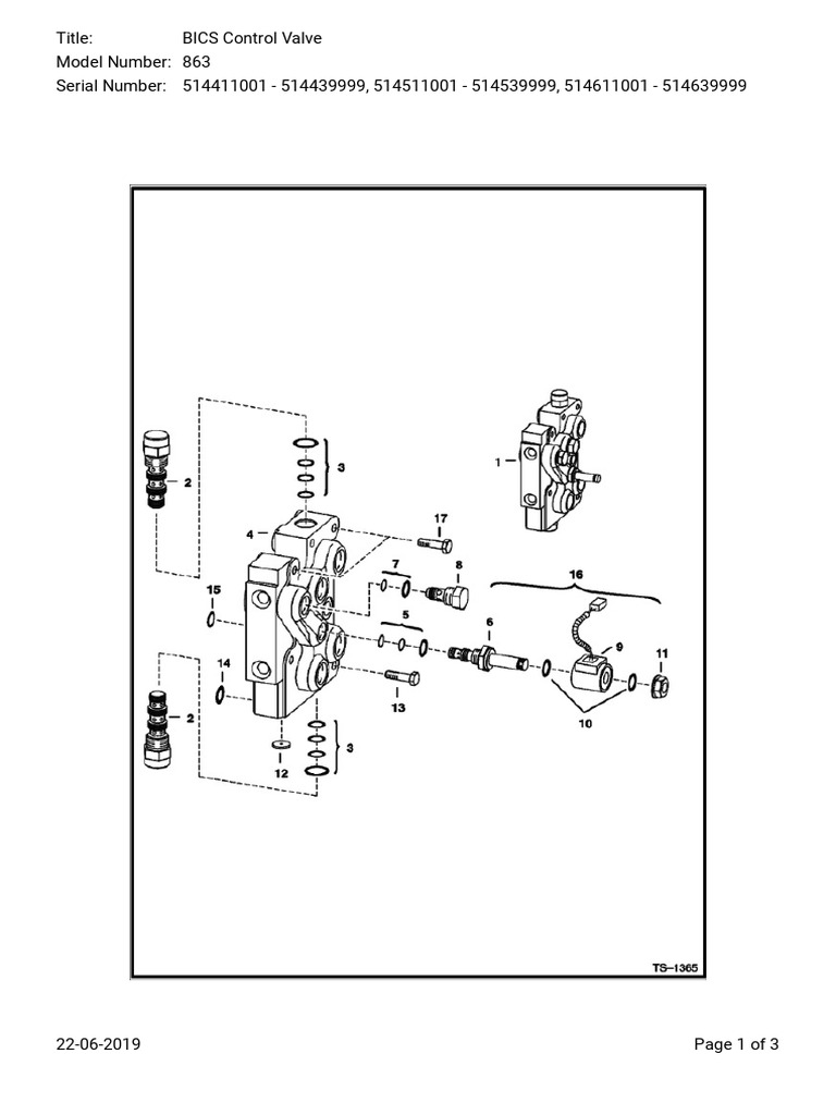 YM440I] BOBCAT 440 HYDRAULIC VALVE DIAGRAM [Y440F40]   WIRES COAST ...