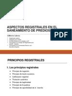 Saneamiento de predial y Registros
