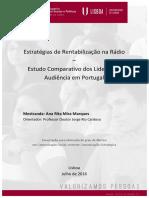 Estratégias de Rentabilização Na Rádio-TESE - RITA MIRA MARQUES
