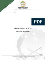 Decreto-Lei n.º 16 a 95, (1)