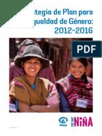 Estrategia Igualdad Genero 2012 2016