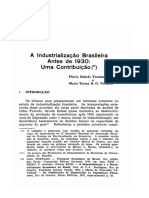 A industrialização brasileira antes 1930