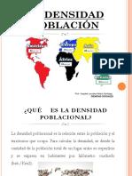 La Densidad Poblacional
