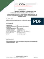 Documento obligatorio de IAF para la transferencia de la certificación de sistemas de gestión acreditada