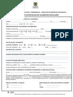 Acta de Notificacion de Accidentes Escolares Formato 2016