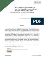 A Inserção Da Psicologia No  -  Psicólogo Alan Ferreira dos Santos
