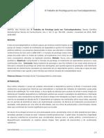 O Trabalho Do Psicólogo Junto Aos Toxicodependentes. -  Psicólogo Alan Ferreira dos Santos