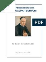 100 Pensamentos (S. Gaspar Bertoni)