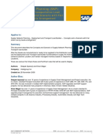 Supply Network Planning (SNP) - Deployment and Transportation Load Builder Scenario 1 - Fair Share Rule by Quota Arrangement