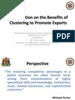 BenefitsofClusteringtoPromoteExports-090222204749-phpapp02