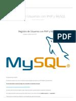 Registro de Usuarios Con PHP y MySQL