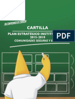 Cartilla Plan Estratégico Institucional 2015-2018 (Comunidades Seguras y en Paz)