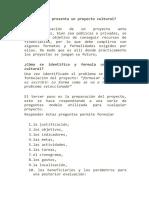 13 Pasos Proyecto Cultural