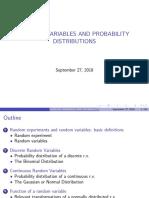 Probability Random Variables Results Pv
