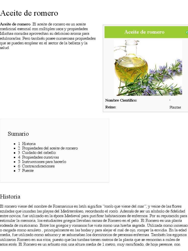 Romero propiedades medicinales pdf