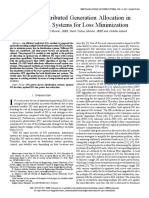 Optimal Distributed Generation Allocation In