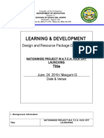 Activity Design for Watch Program
