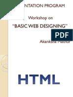 Basic Web Disigning