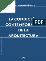 la condición contemporanea de la arquitectura