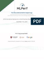 MLPerf - Vision Behind MLPerf
