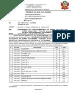Informe Justificacion de Maateriales