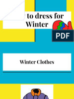 how to dress for winter presentation