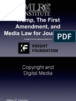 Trump First Amendment Media Law Tipsheet IRE19
