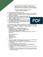 lista de exercícios AED