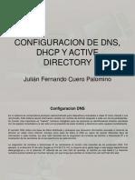 Instalacion DNS Dhcp y Active Directory