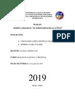 La Industrialización en El Perú