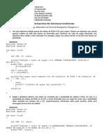Lista 2 Estruturas Condicionais