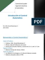1 Introducción Al Control Automático
