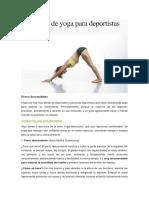 Ejercicios de Yoga Para Deportistas