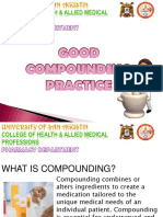 Good Compounding Practices