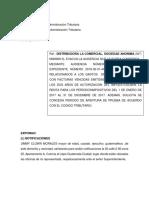 5.2.1.. 5-6-19 Ssolucion Memorial de Audiencia Distribuidora La Comercial s.a.