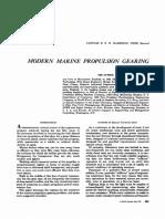 Modern Marine Propulsion Gearing