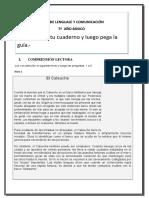 5ºAño GUIAS DE COMPRENSIÓN LECTORA