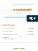 differentiating instruction  high school